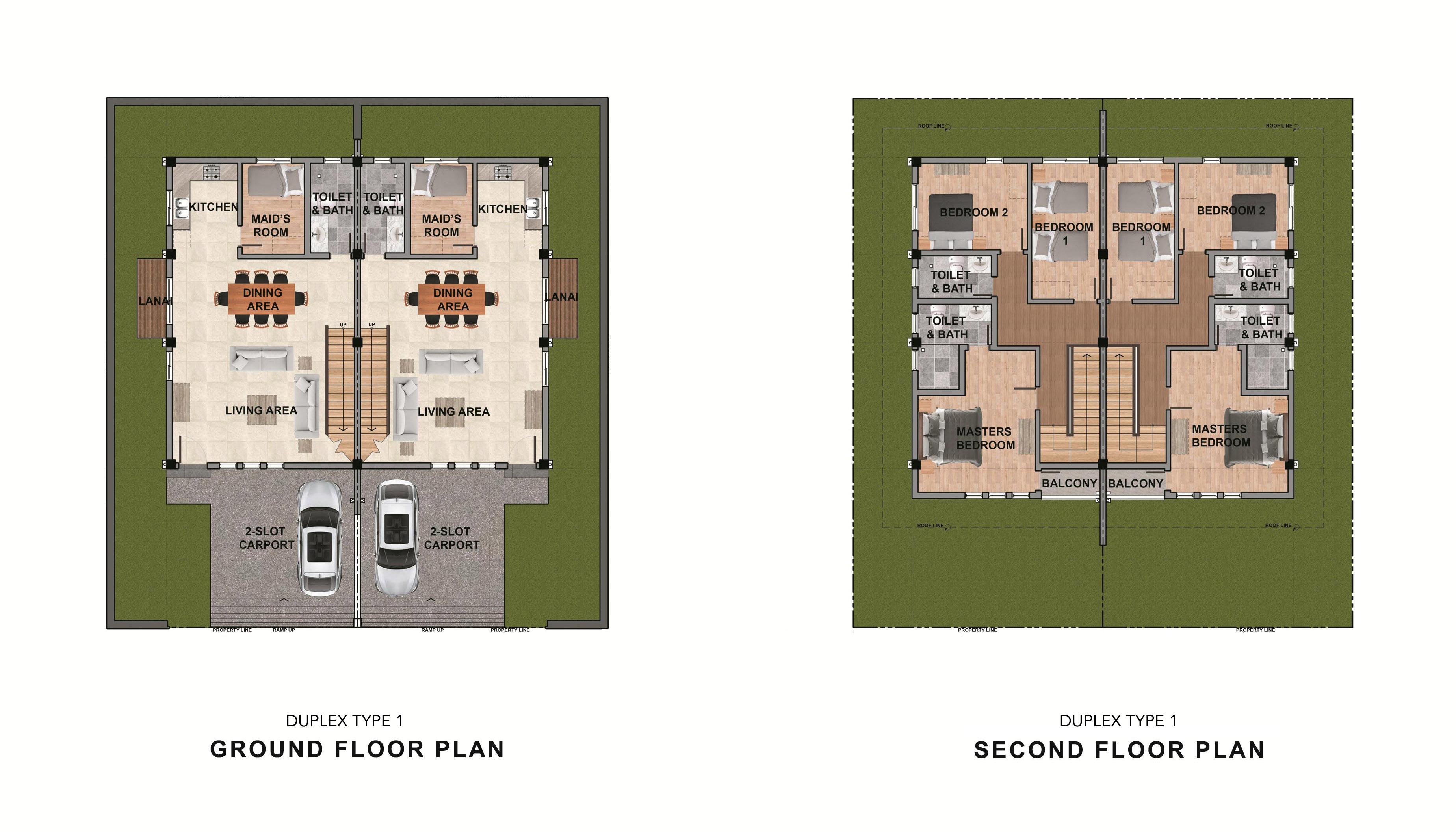 duplex type1 unit layout