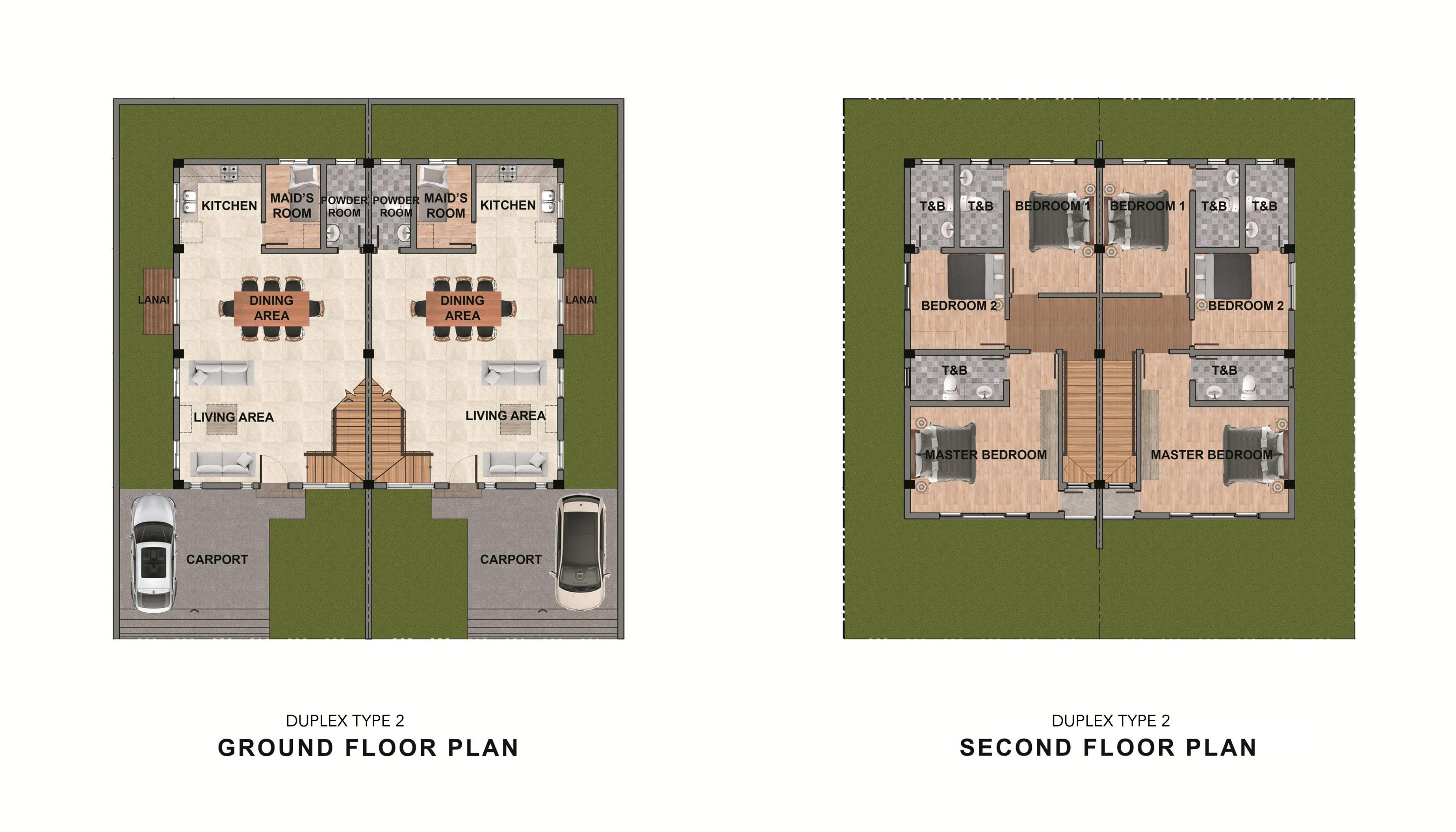 Duplex Type 2 Floor Plan