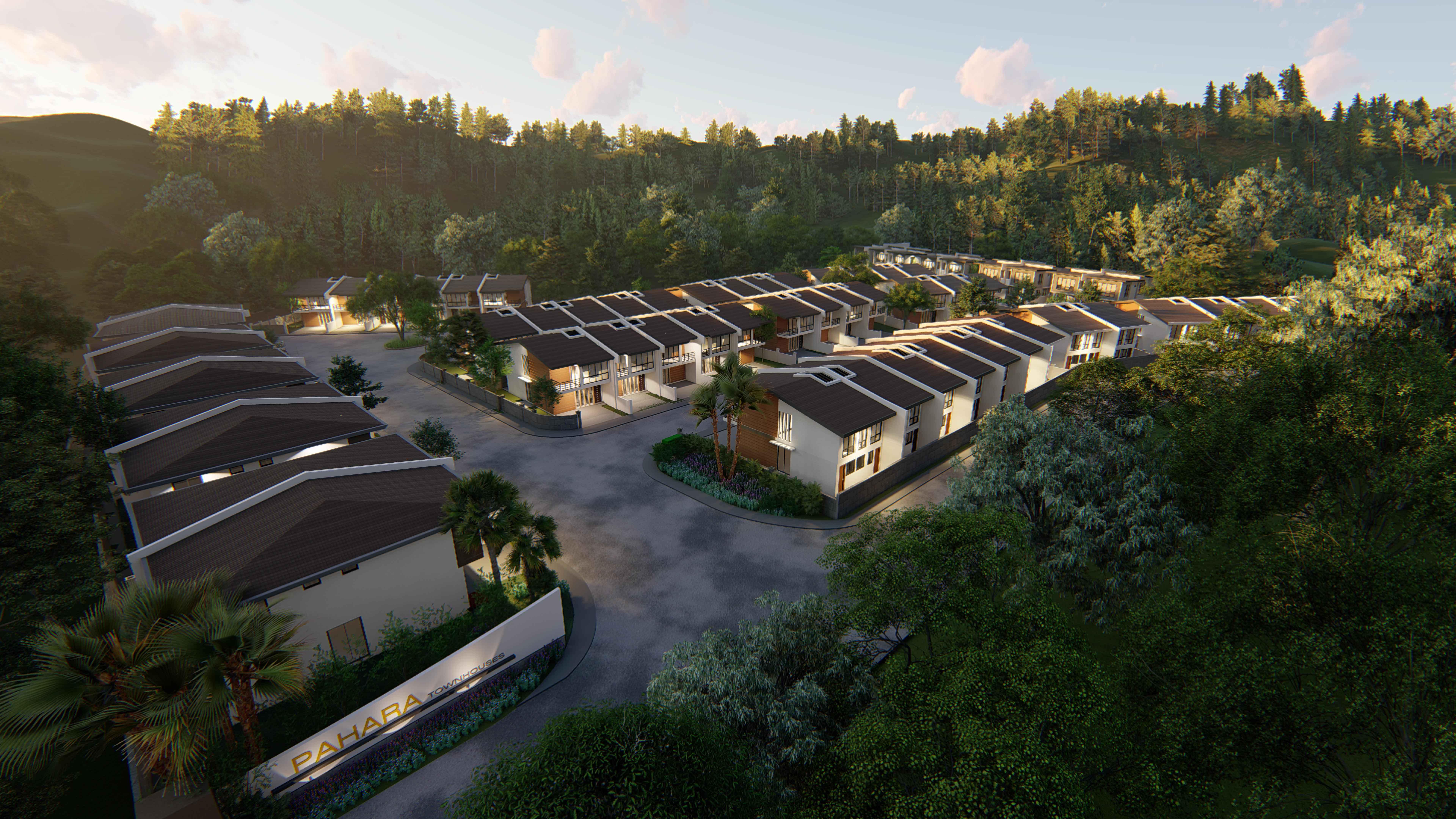 Upland Villas Aerial view