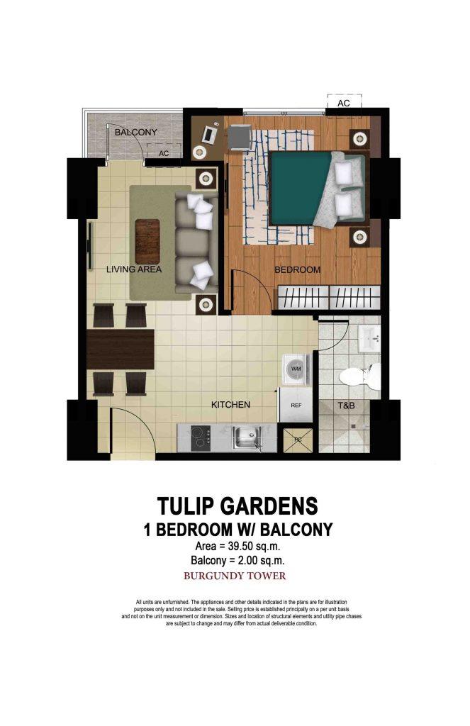 Tulip Gardens 1 BR with Balcony