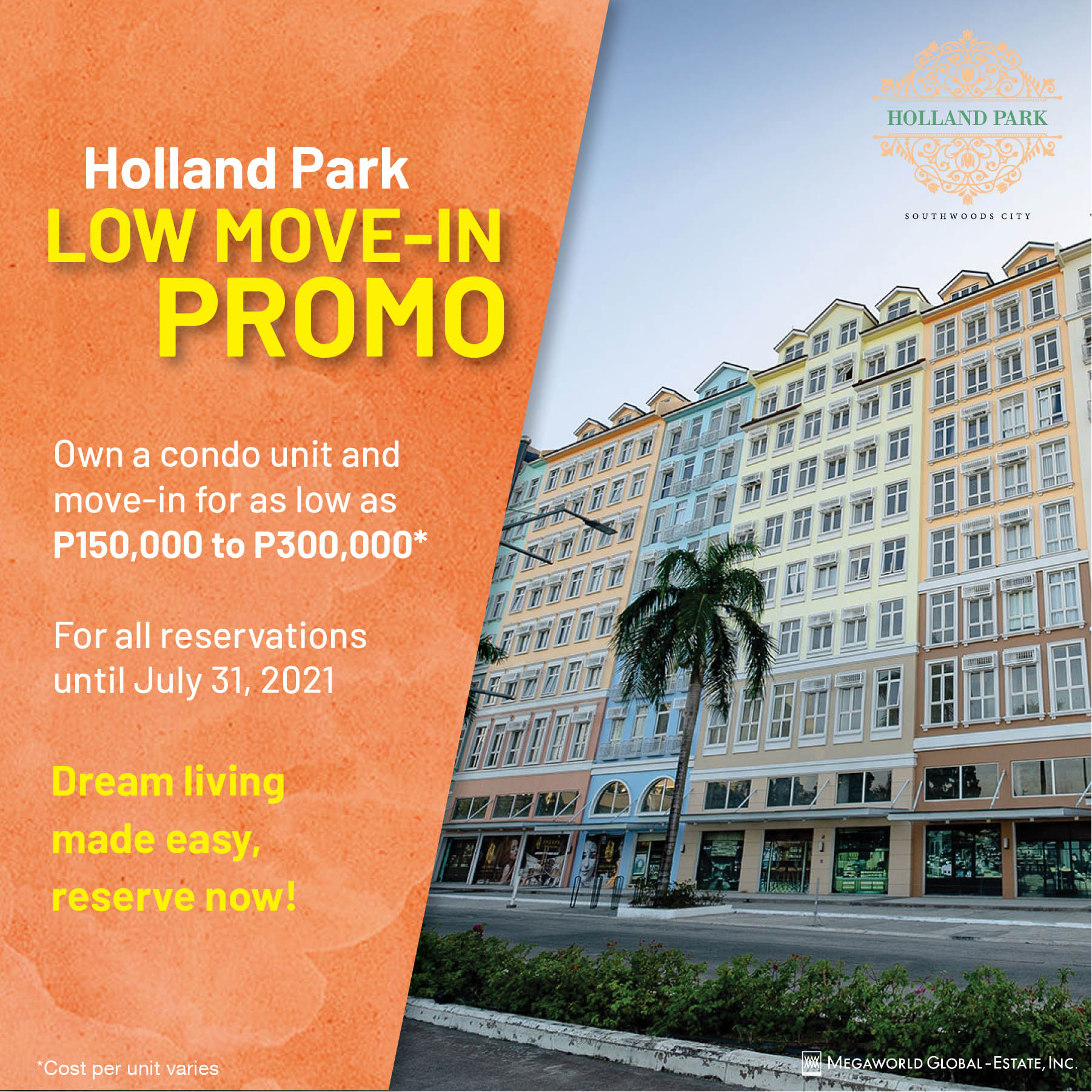 holland park low move in promo