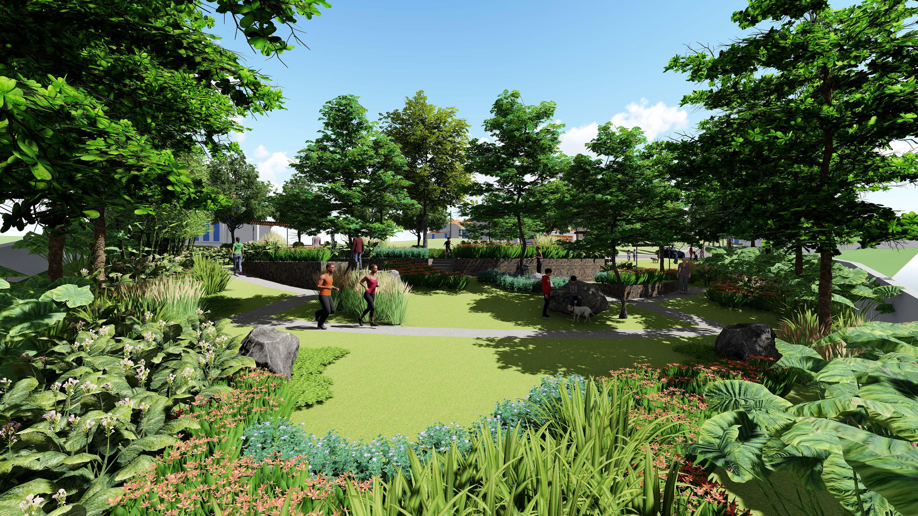 upland estates flower and herb garden